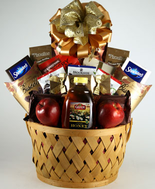 New Years Cheer Rosh Hashanah Gift Basket